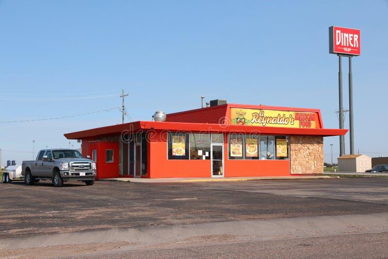 Wagon-restaurant mexicain de nourriture image stock