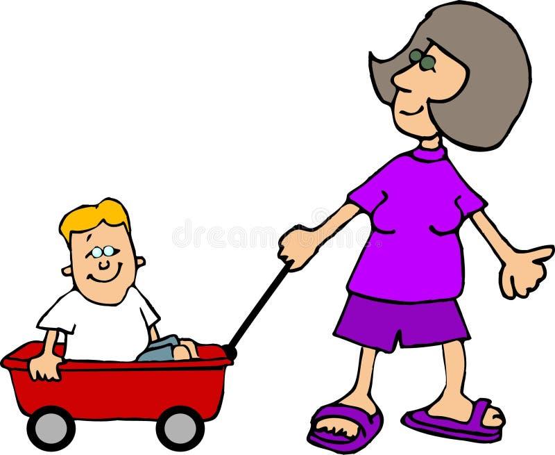 Download Wagon ride stock illustration. Illustration of riding, funny - 104349