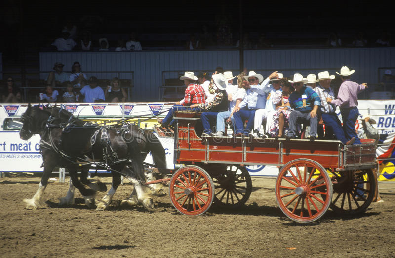 Download Wagon train, Fiesta Rodeo editorial stock image. Image of rodeo - 26904369
