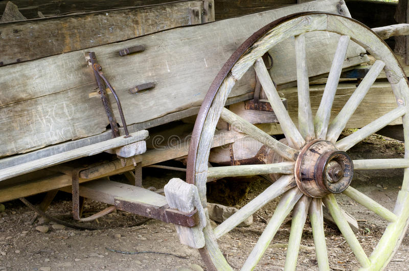 Antique Carriage Wheel Axle Detail Stock Images - Download