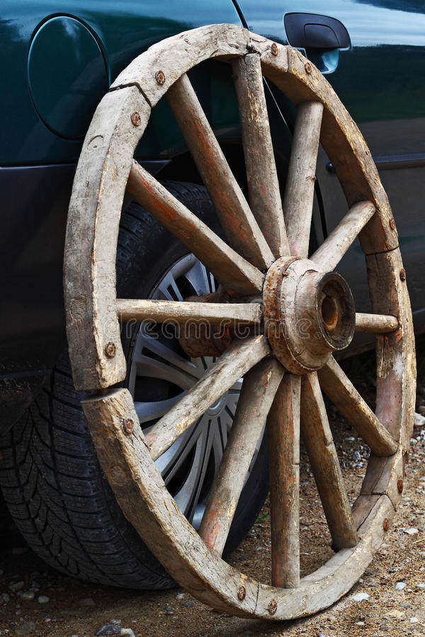 Download Wagon wheel stock photo. Image of shiny, nowadays, shaft - 26967648