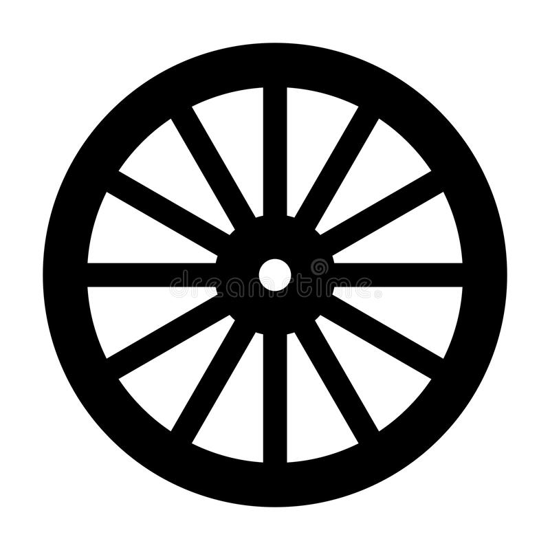 Free Wagon Wheel Silhouette Royalty Free Stock Images - 117245999