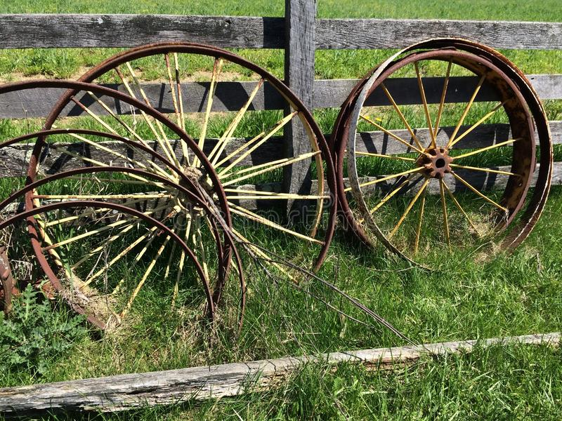 Wagon wheels royalty free stock images