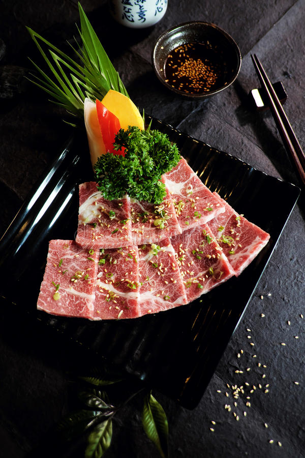 Wagyu日本牛肉A5 库存照片