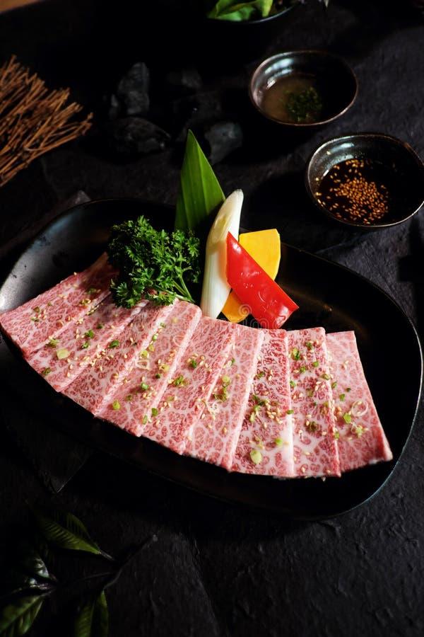 Wagyu日本牛肉A5 免版税库存照片