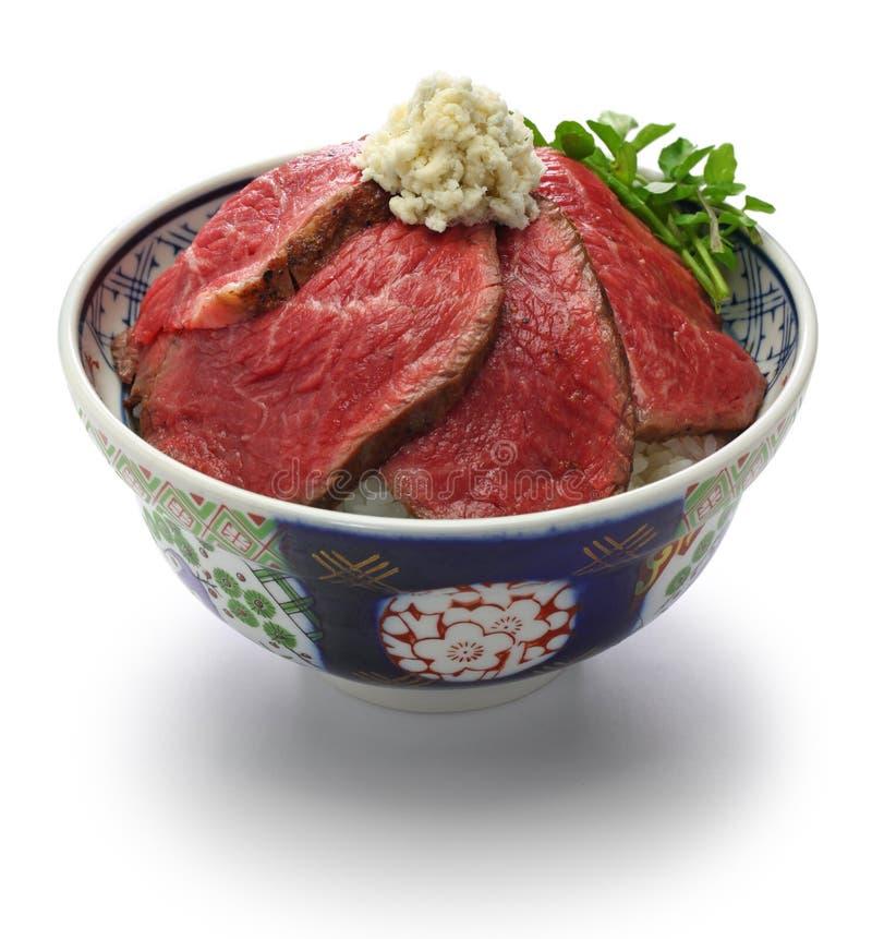 Wagyu烤牛肉碗 库存照片