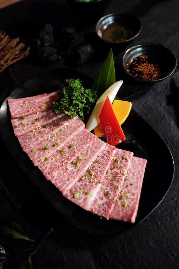 Wagyu Japanese beef A5 stock photos
