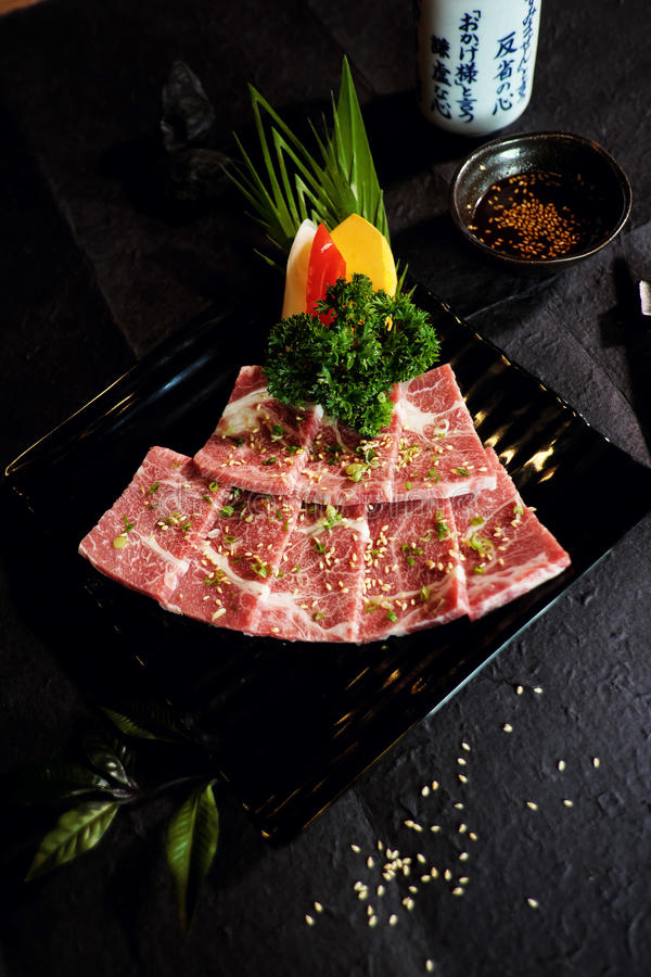 Wagyu Japanese beef A5 stock photography