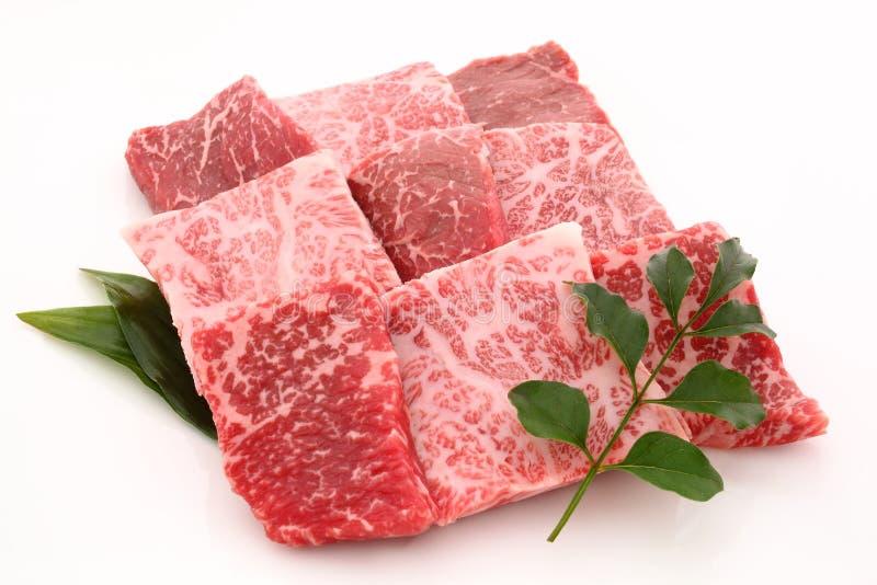 Wagyu, Kobe-rundvlees, Japans marmerrundvlees stock afbeelding