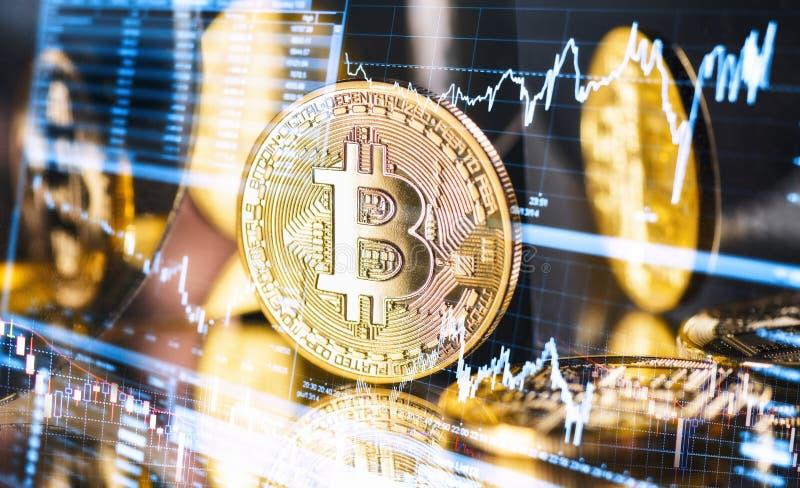 Wahać się kurs Bitcoin zdjęcia royalty free