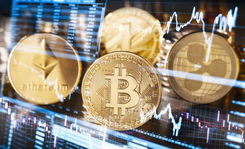 Wahać się kursy cryptocurrencies zdjęcia royalty free
