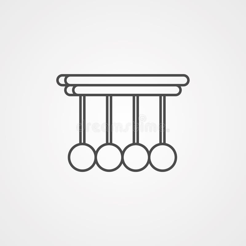 Wahadło ikony znaka wektorowy symbol ilustracja wektor