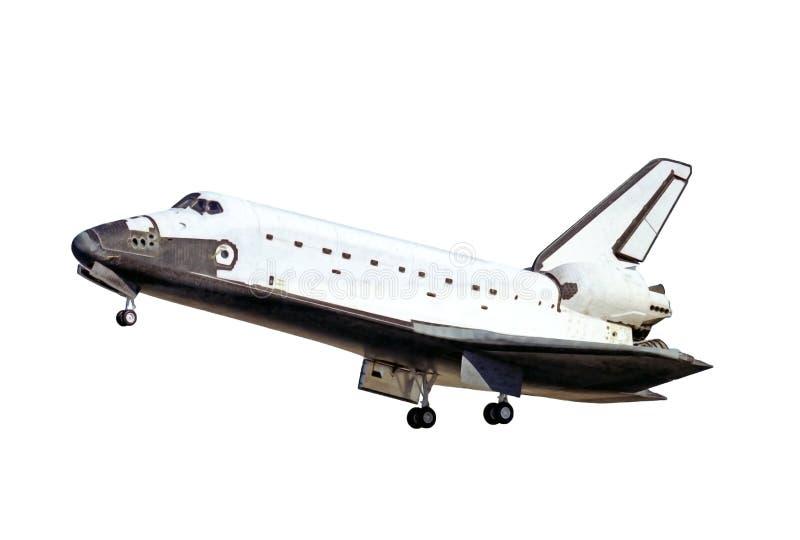 Wahadłowiec kosmiczny podczas odlota, odizolowywającego na białym tle Elementy ten wizerunek meblowali NASA fotografia stock