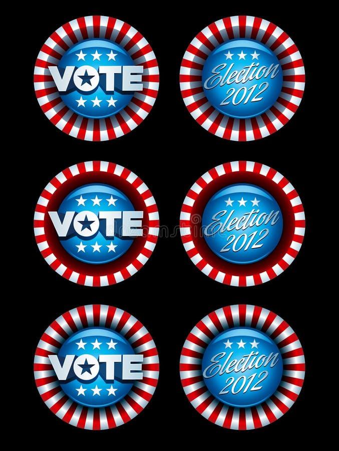 Wahl-Abzeichen Eingestellt Lizenzfreie Stockfotografie