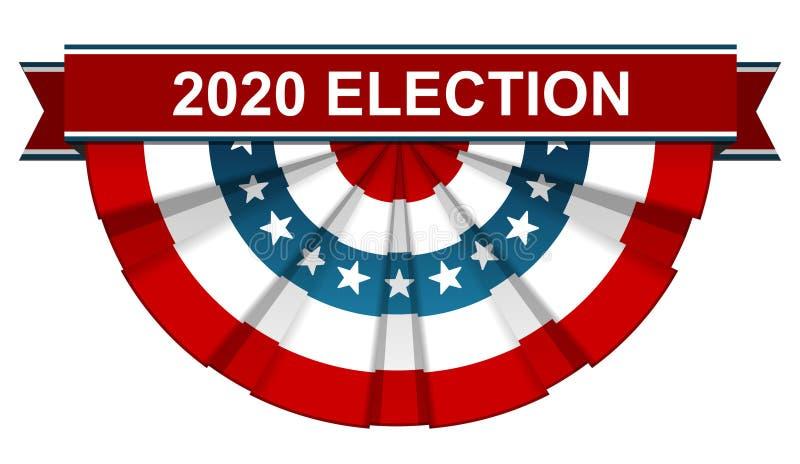 Wahl 2020 lizenzfreie abbildung