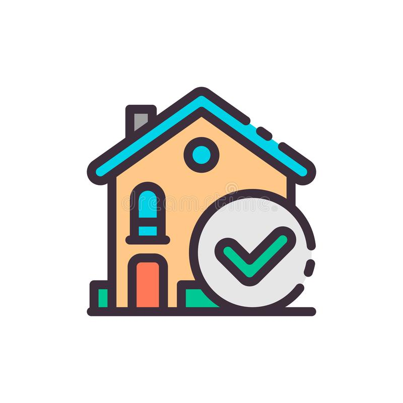 Wahl des Hauses Vektorfarbikone lizenzfreie abbildung