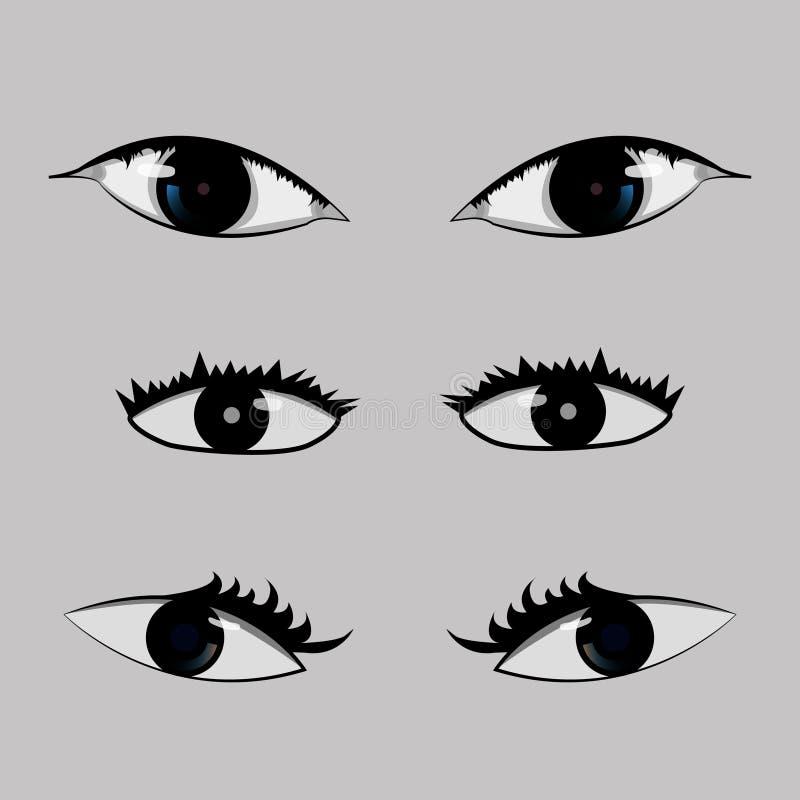Wahl Ihre Augen stockbild