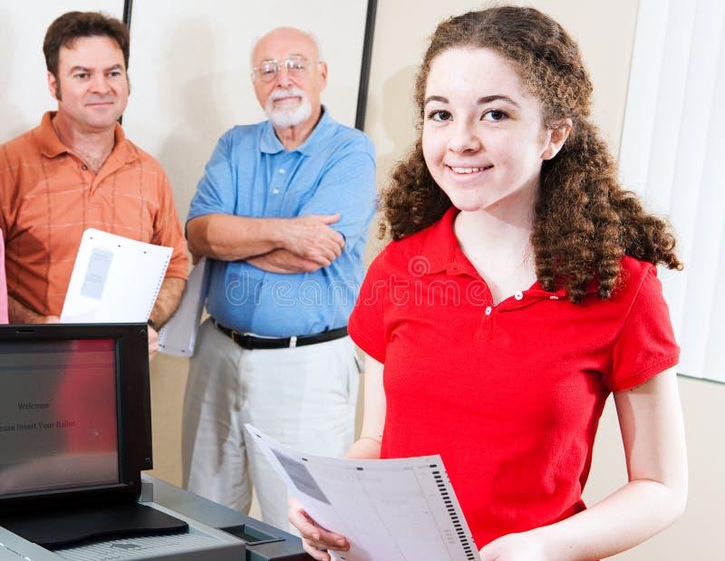 Wahl - junger Wähler lizenzfreie stockfotos