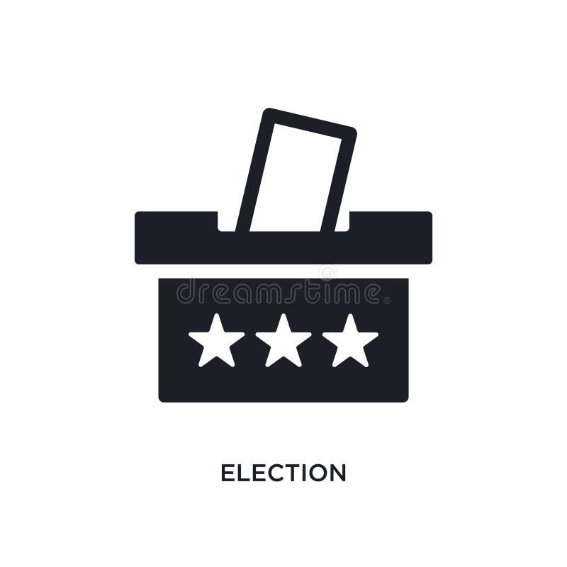 Wahl lokalisierte Ikone einfache Elementillustration von den politischen Konzeptikonen Logozeichen-Symbolentwurf der Wahl editabl vektor abbildung
