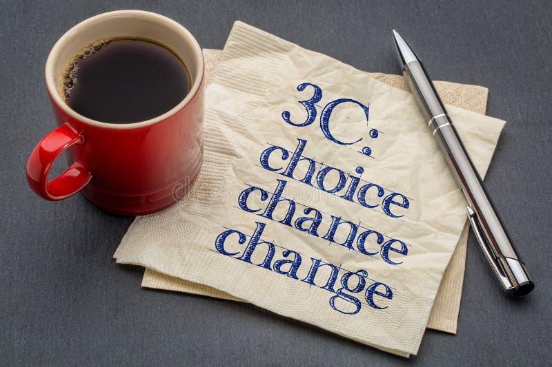 Wahl, Möglichkeit und Änderung stockfotografie