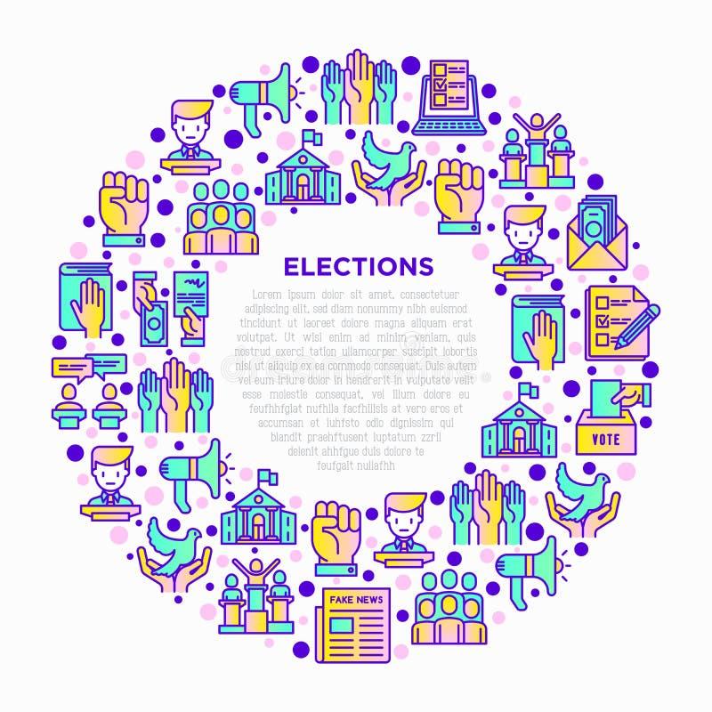 Wahl- und Abstimmungskonzept im Kreis lizenzfreie abbildung