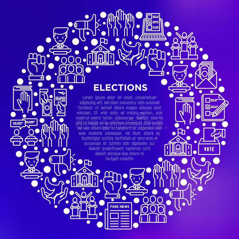 Wahl- und Abstimmungskonzept im Kreis stock abbildung