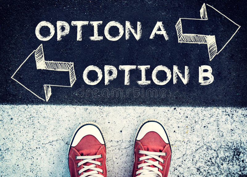 Wahl A und B lizenzfreies stockbild