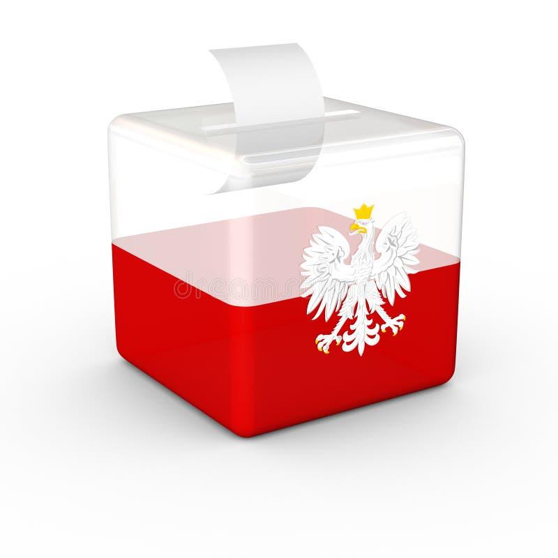 Wahl-Wahlurne-Polnisch-Flagge stock abbildung
