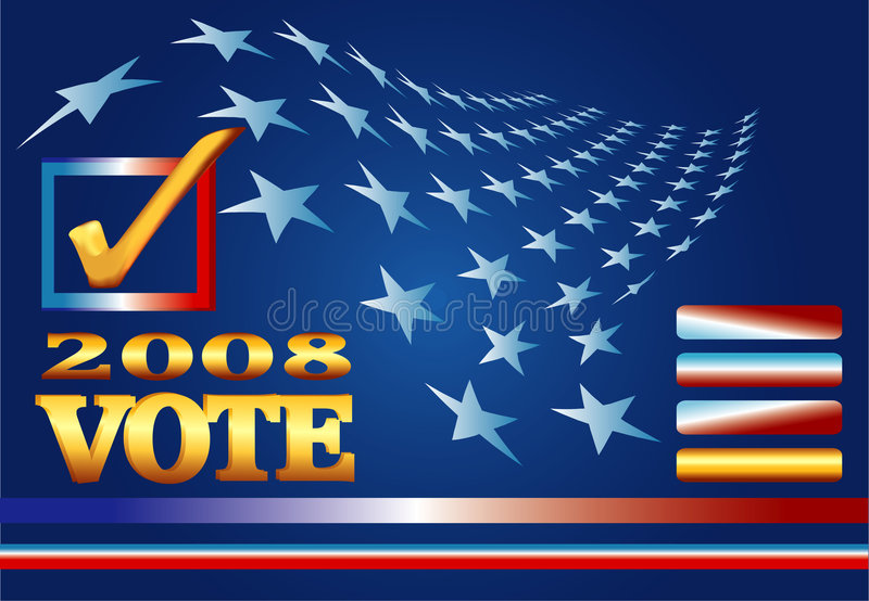 Wahl-Web-Fahne 2008 lizenzfreie abbildung