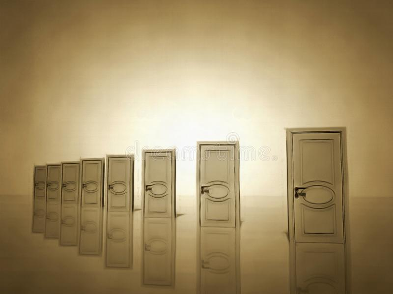 wahl Weiße Türen stock abbildung