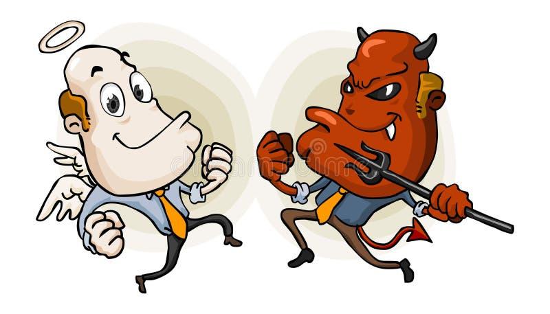 Wahl zwischen Gut und Böse. vektor abbildung