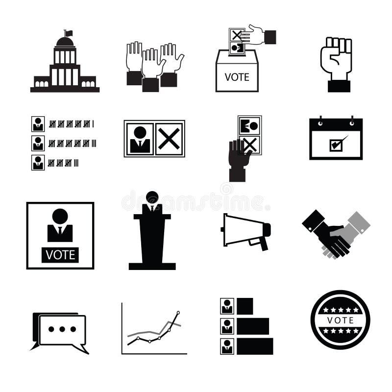Wahlabstimmungs-Demokratieikonen vektor abbildung