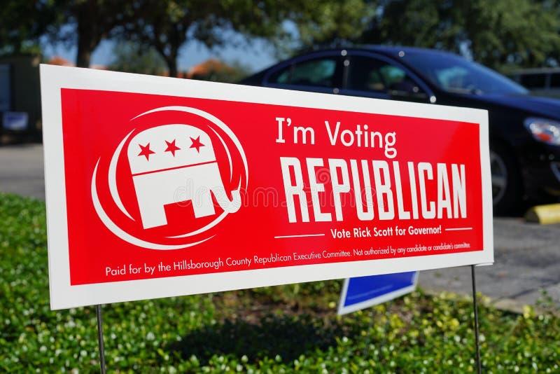 Wahlabstimmungszeichen lizenzfreie stockfotografie