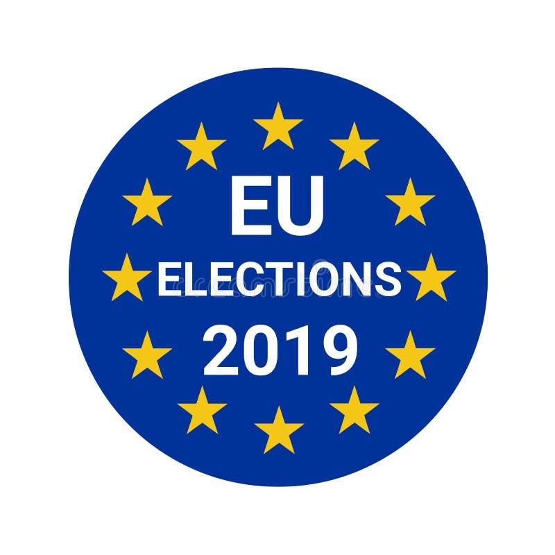 Wahlen 2019 der Europäischen Gemeinschaft lizenzfreie abbildung