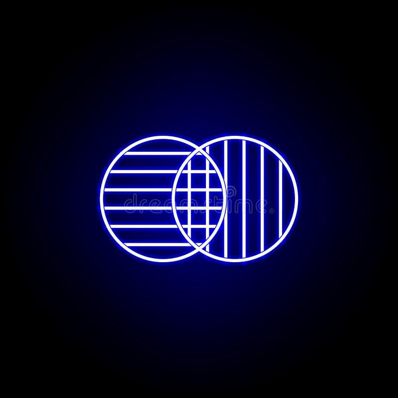 Wahlen, die Ikone in der Neonart verschmelzen Zeichen und Symbole k?nnen f?r Netz, Logo, mobiler App, UI, UX verwendet werden vektor abbildung