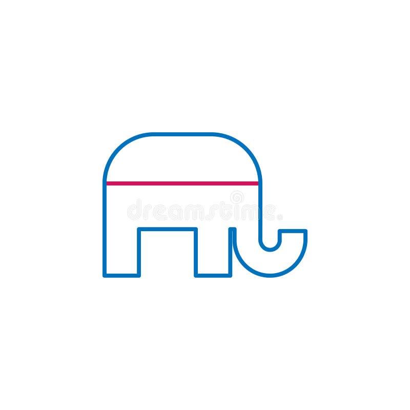 Wahlen, Entwurf der republikanischen Partei färbten Ikone Kann für Netz, Logo, mobiler App, UI, UX verwendet werden stock abbildung