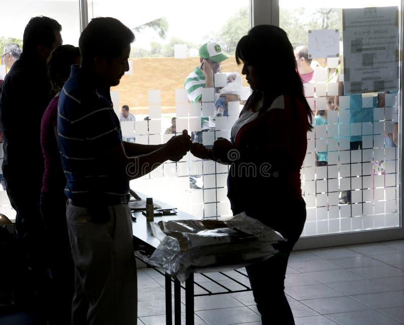 Wahlen in Mexiko stockfoto