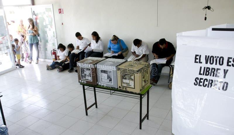 Wahlen in Mexiko lizenzfreies stockfoto