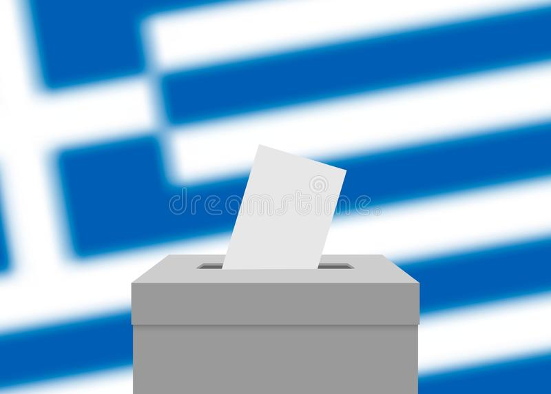 Wahlfahnenhintergrund lizenzfreie abbildung