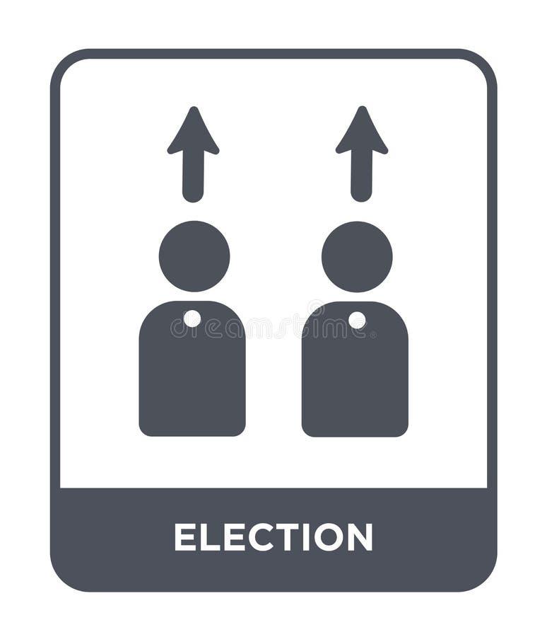 Wahlikone in der modischen Entwurfsart Wahlikone lokalisiert auf weißem Hintergrund einfache und moderne Ebene der Wahlvektor-Iko lizenzfreie abbildung