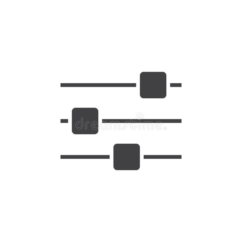 Download Wahlikone, Festes Logo Der Einstellungen, Piktogramm An Lokalisiert Stock Abbildung - Illustration von optionen, getrennt: 90234899