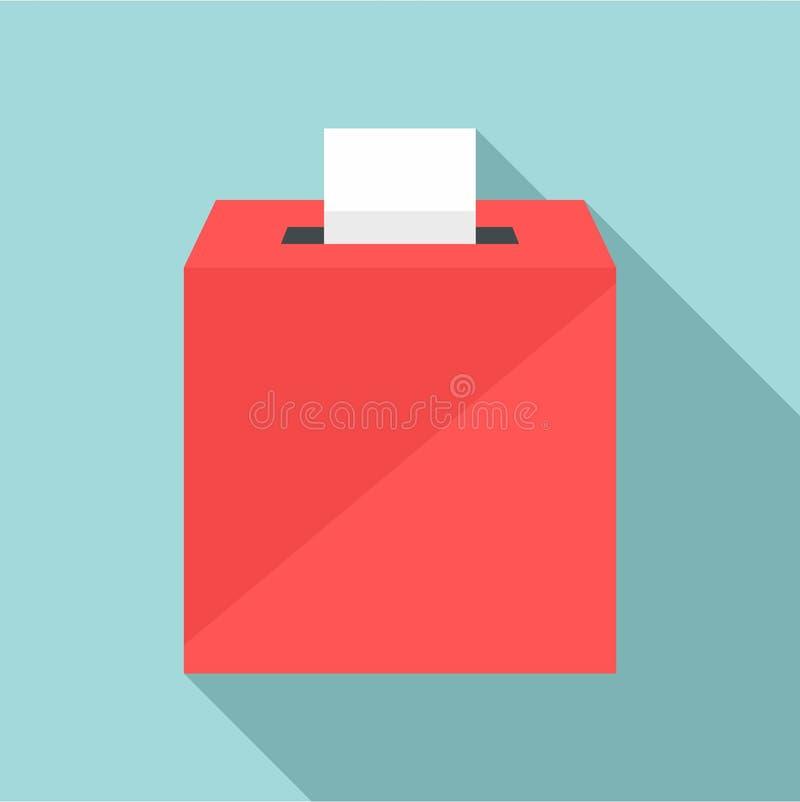 Wahlkastenikone, flache Art stock abbildung