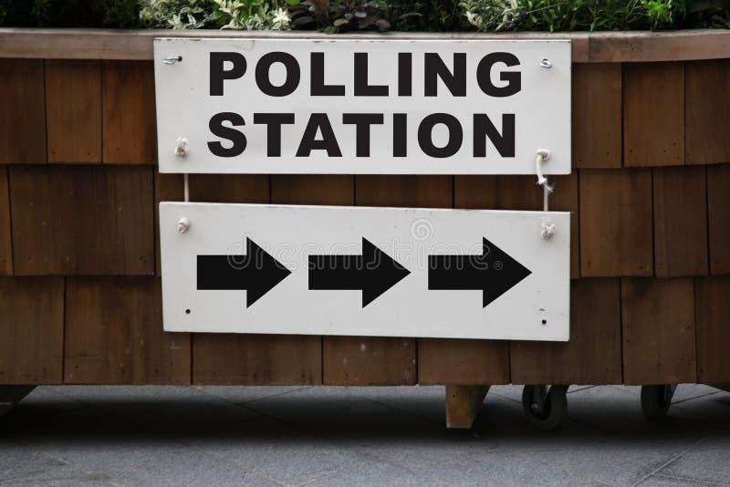 Wahllokal stockbilder