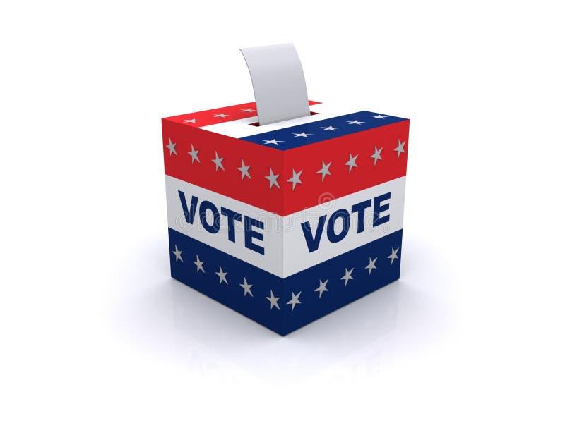 Wahlstimmzettel lizenzfreie abbildung