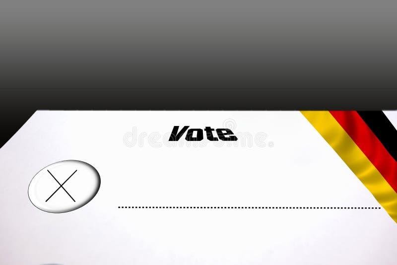 Wahlstimmzettel für Parteiwahlen stock abbildung