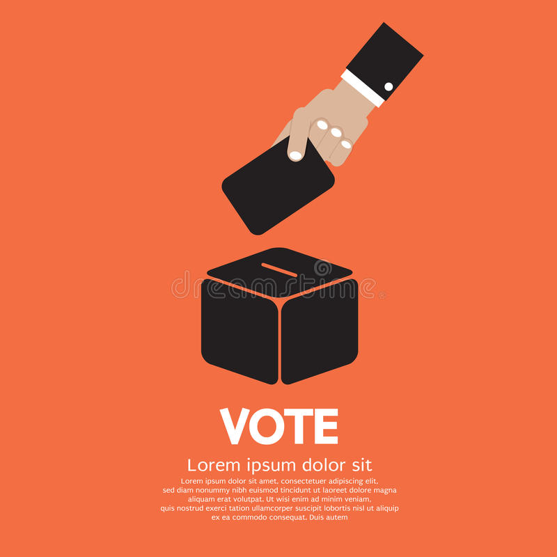 Wahlsystem vektor abbildung