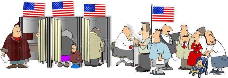 Wahltag lizenzfreie abbildung