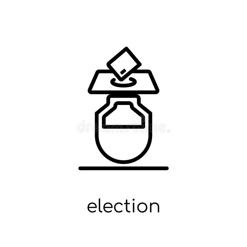 Wahlumschläge und Kastenikone von der politischen Sammlung lizenzfreie abbildung