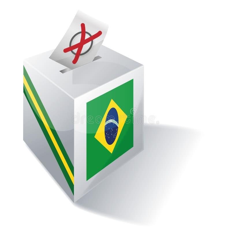 Wahlurne Brasilien lizenzfreie abbildung