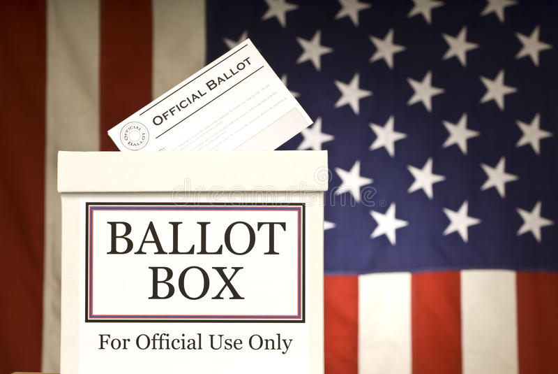 Wahlurne horizontal stockbild
